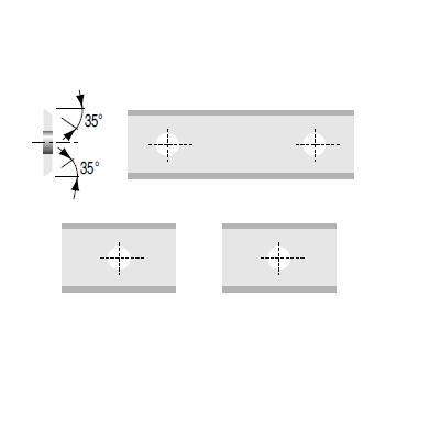 Cuchillas reversibles de 50 x 12 x 1,5 mm en HW